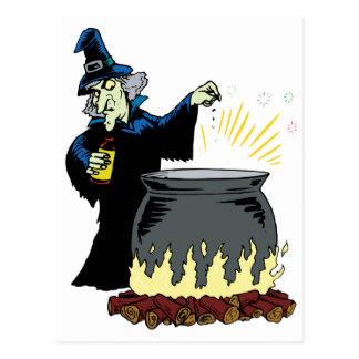 Witch's Brew Postcard