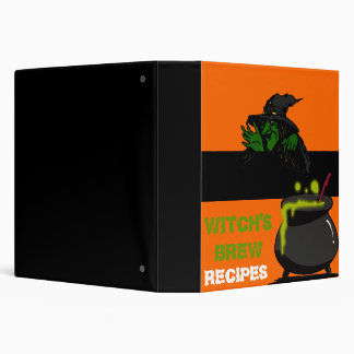 Witch's Brew Recipe Book 3 Ring Binder