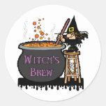 Witch's Brew Stickers/Envelope Seals Round Stickers