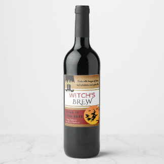 Witch's Brew Vintage Style Wine Label