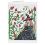 Witch's Broom Greeting Cards