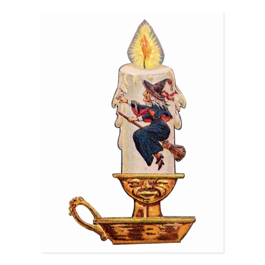 Witch's Candle(Vintage Halloween Card) Postcard