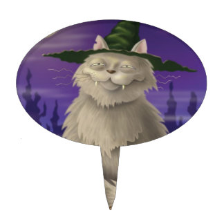 Witch's Cat Cake Topper
