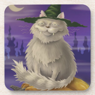 Witch's Cat Coaster
