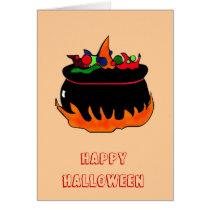 Witch's cauldron-greeting card