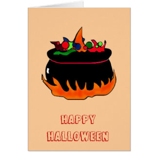 Witch's cauldron-greeting greeting cards