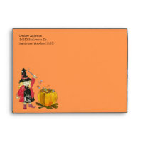 Witch's Cauldron Halloween Invitation A7 Envelopes