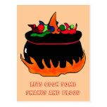 Witch's cauldron-party invite post cards