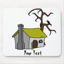 witch's cottage mouse pad
