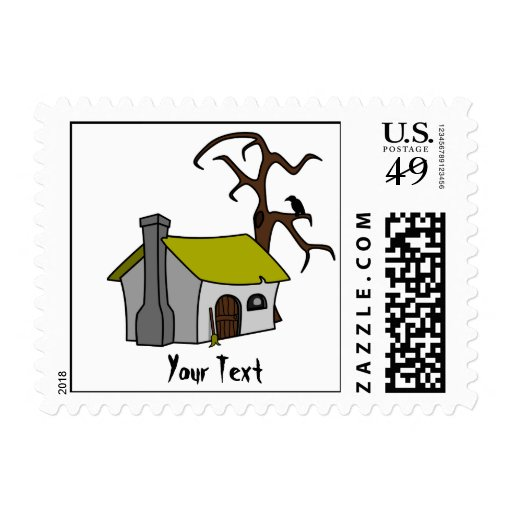 witch's cottage stamps