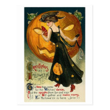Witch's Dance Postcard