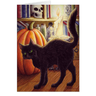 Witch's Familiar-notecard Card