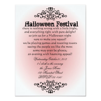 Witch's Filigree 4.25x5.5 Paper Invitation Card
