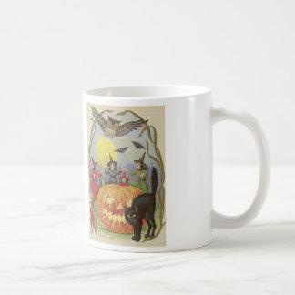 Witch's Halloween Dance Cross Stitch Coffee Mug