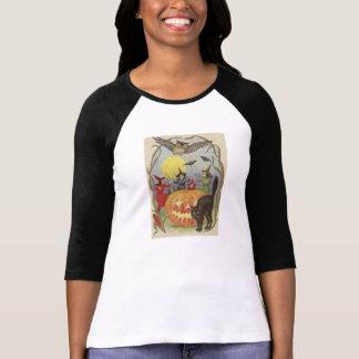 Witch's Halloween Dance Cross Stitch T-shirt