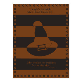Witch's Hat Postcard