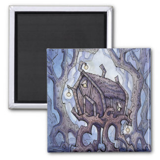 Witch's Hut Square Magnet from Unreal Estate
