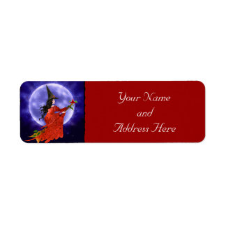Witch's Moon Fantasy Art Return Address Label