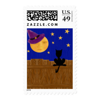 Witch's Moon Postage Stamps