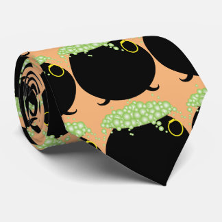 Witch's Pot of Green Bubbles, Happy Halloween Tie
