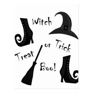 Witch's supplies postcard