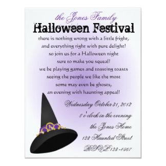 Witch's Tiara 4.25x5.5 Paper Invitation Card