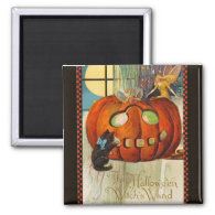 Witch's Wand Halloween 2 Inch Square Magnet