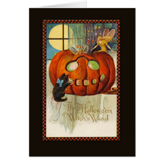 Witch's Wand Halloween Card