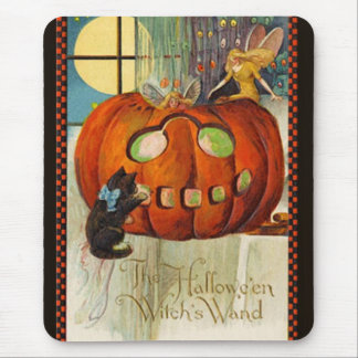 Witch's Wand Halloween Mouse Pad
