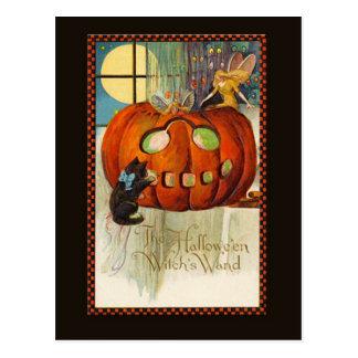 Witch's Wand Halloween Postcard
