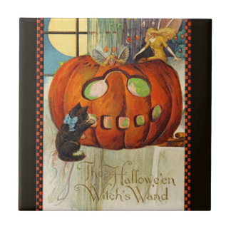Witch's Wand Halloween Tile