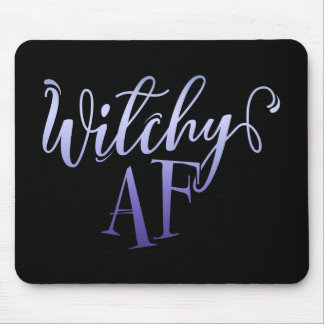 Witchy AF Halloween Mouse Pad