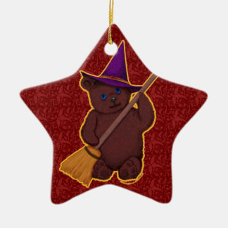 Witchy Bear Star Ornament