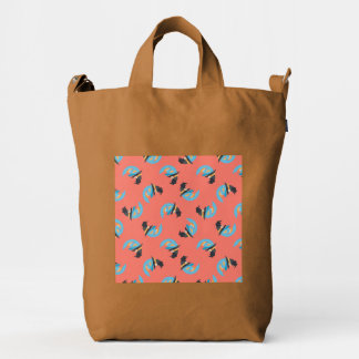 Witchy Blue Moons Duck Canvas Bag