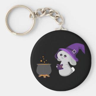 Witchy Bunny Keychain