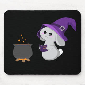 Witchy Bunny Mouse Pad