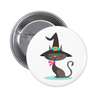 WITCHY CAT 2 INCH ROUND BUTTON
