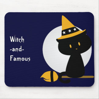 Witchy Cat Mousepad
