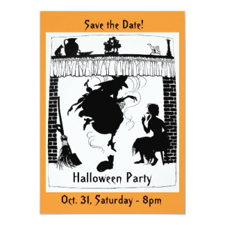 Witchy Chimney Halloween Party Invitation