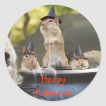 Witchy Chipmunks Stickers