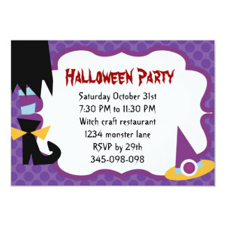 Witchy Feet Halloween Party invitation