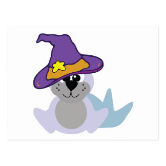 witchy goofkins baby seal postcard