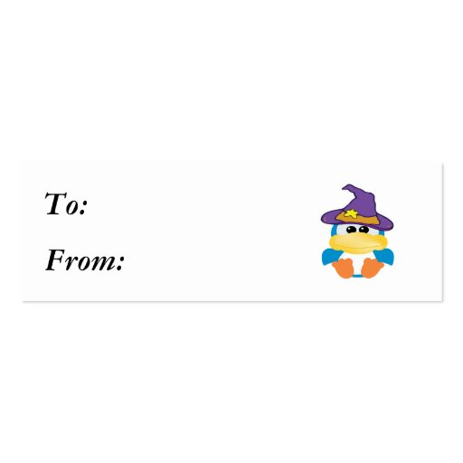 witchy goofkins blue duck Double-Sided mini business cards (Pack of 20)