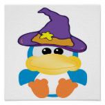 witchy goofkins blue duck print