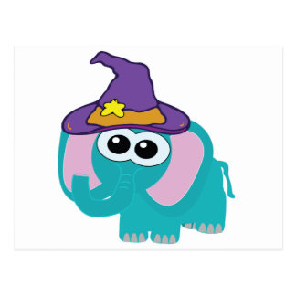 witchy goofkins blue elephant post cards