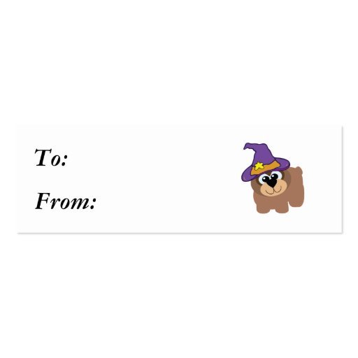 witchy goofkins brown bear business card template