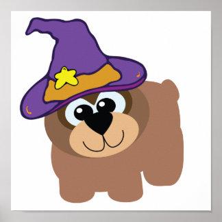 witchy goofkins brown bear print