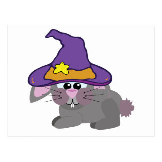 witchy goofkins bunny rabbit post card