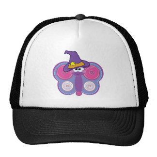 witchy goofkins button butterfly trucker hat