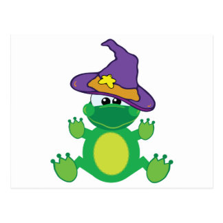 witchy goofkins froggy frog postcard